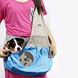 Pet Sling Carrier, PYRUS Dog Sling Bag Shoulder Carry Bag with Extra Pocket for Cat Dog Puppy Kitty Rabbit Small Animals ( Blue )