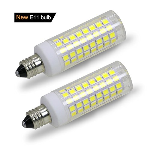 [2-Pack] E11 led Bulb, 75W Or 100W Equivalent Halogen Replacement Lights, Dimmable, Mini Candelabra Base, 850 Lumens Daylight White 6000K, AC110V/120V, Replaces T4/T3 JD Type Clear e11 Light Bulb. ()