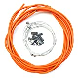 WINOMO Universal Bicycle Brake Shift Cable and Housing Set for Road MTB Bicycle(Orange)