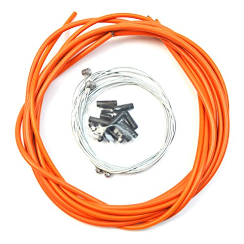 WINOMO Universal Bicycle Brake Shift Cable and Housing Set for Road MTB Bicycle(Orange) by WINOMO