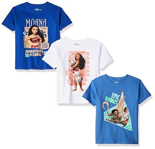 Disney Girls Moana 3-Pack Short Sleeve Graphic T-Shirt