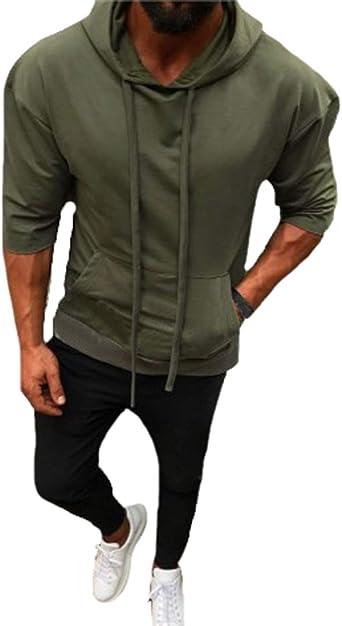 Haydner Moosers Mens Long Sleeve Hoodies Pullover Sweatershirt Big Pockets