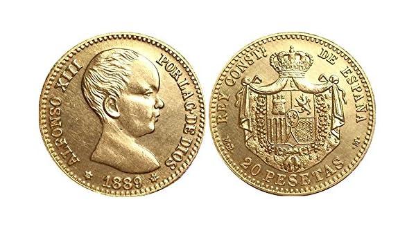 Moneda de 1889 de España - 20 pesetas/pesetas - ALFONSO XIII ...