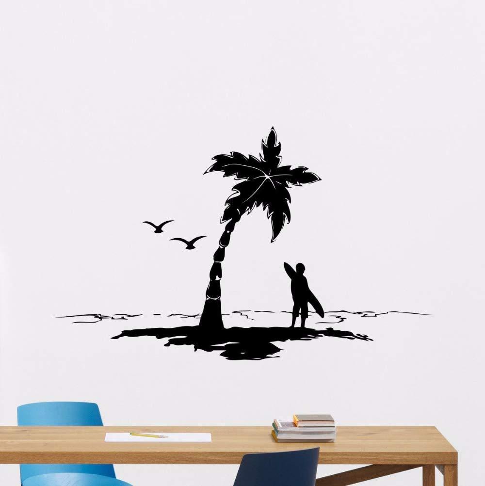 Crjzty Baño Decoración de Arte Mural Vinilo Surf Tatuajes de Pared ...