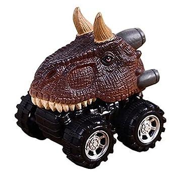 TOOGOO Juguete regalo del dia del nino Modelo de dinosaurio Mini coche juguete Coche hacia atras Regalo Tatankacephalus