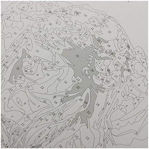 JJH Peinture /À lhuile Peinture De Bricolage par Kit De Num/éros pour Adultes Wall Art Photo Peinture /À lhuile Acrylique pour La D/écoration Murale Art Unique Cadeau 40x50cm sans Cadre