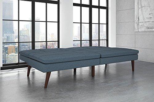 DHP Premium Westbury Linen Pillowtop Futon, Blue