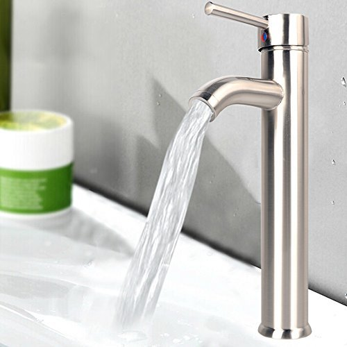 vessel faucet brushed nickle - 1