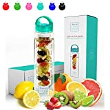 #2: Savvy Infusion Water Bottles - 32 Ounce - Featuring Unique Leak-Proof Sealed Cap with Handle - Includes Bonus Recipe Ebook