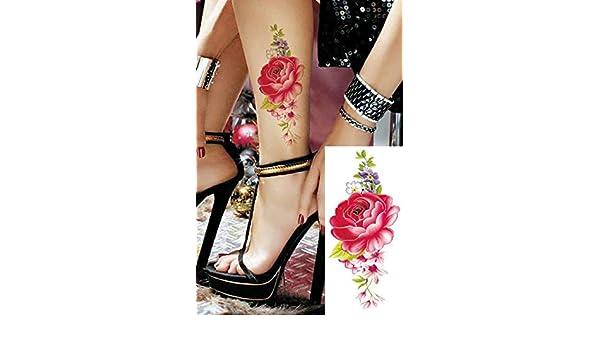 3pcs Tatuaje Impermeable Etiqueta Flor de Rose Tatto cinturas ...