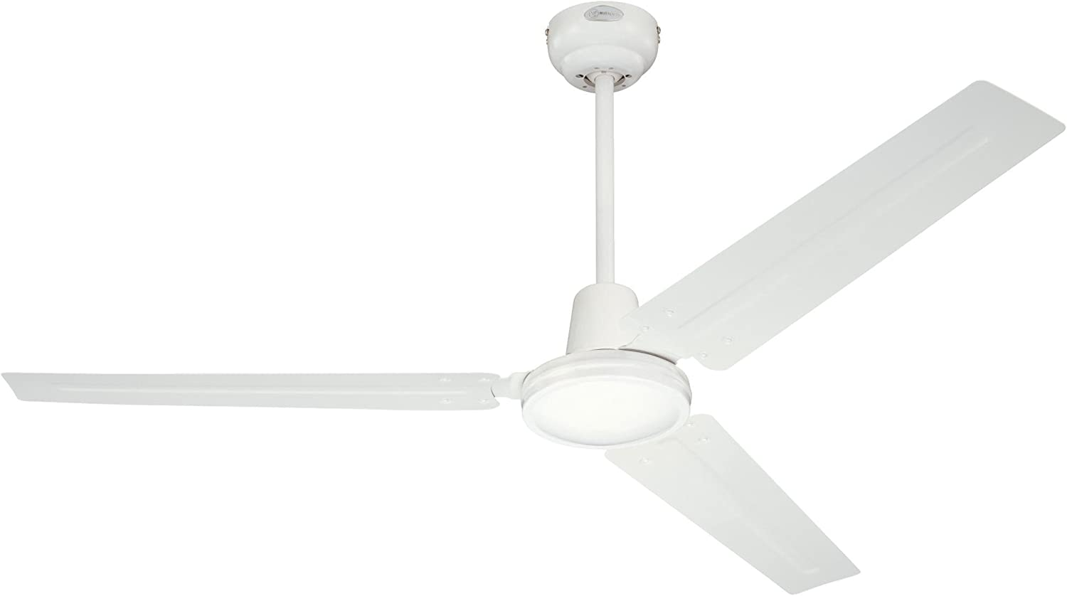 Westinghouse Ceiling Fans 7226840 72268 Industrial 142 cm Three Indoor Ceiling Fan, White Finish with White Blades