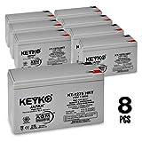 APC RBC27 SMART-UPS RM SU2200RMXL3U UPS Battery 12V 9Ah SLA Sealed Lead Acid AGM Rechargeable Replacement Battery Genuine KEYKO ® (W/F1 Terminal, F2 Adapter)