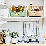 Titan Mall Stackable Storage Bins for Food, Snacks, Bottles, Toys, Toiletries, Plastic Storage Baskets Set of 4, 15x10x7 Inch/bin, Shelf Baskets