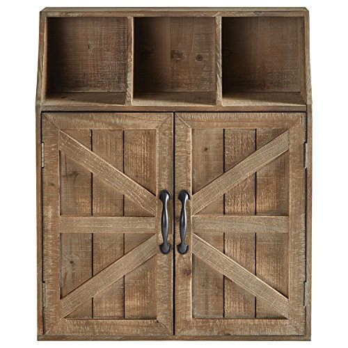 Stone amp Beam Farmhouse Wall Mounted Cabinet Storage Organzier  23 x19 x 6 Inch Natural Wood