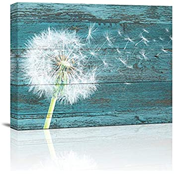 "Canvas Wall Art Abstract Dandelion Life Painting 12"" x 16""Pieces Framed Canvas Pictures Watercolor Prints Contemporary Canvas Artwork Ready to Hang for Home Decoration Kitchen Office Wall Decor"