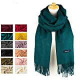 Choomon Women Cashmere Scarf Windproof With A Gift Box (Green)
