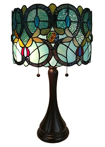 Amora Lighting AM286TL12 Tiffany Style Floral Table Lamp by Amora Lighting