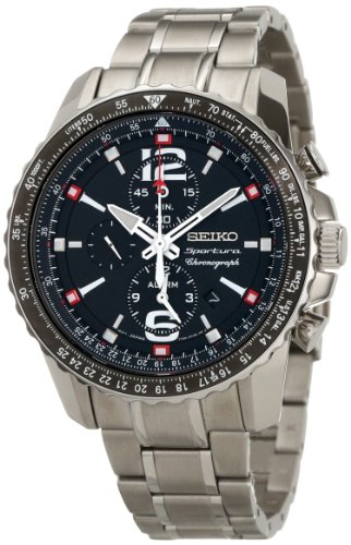 Seiko Men's SNAE95 Analog Japanese-Quartz Silver Watch