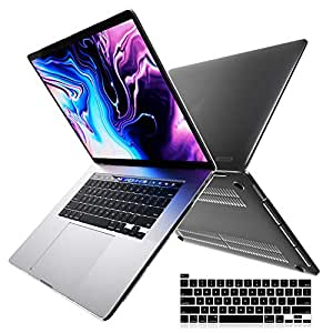 """i-Blason Halo V2.0 Case for MacBook Pro 16 inch (2019 Release), Ultra Slim Translucent Hard Case Protective Clear Cover for New MacBook Pro 16"""" with Touch Bar and Touch ID (Black)"""