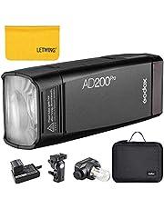 Godox AD200Pro Outdoor Flash Light 200Ws TTL 2.4G 1/8000 HSS 0.01-1.8s Recycling met 2900mAh-batterij voor Sony, voor Nikon, voor Canon (AD200Pro)