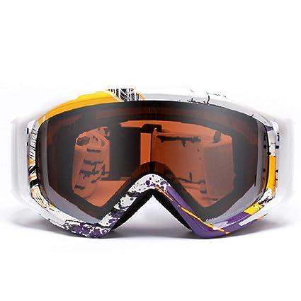Snowboarding Gafas Gafas de esquí Gafas Protectoras Espejo ...