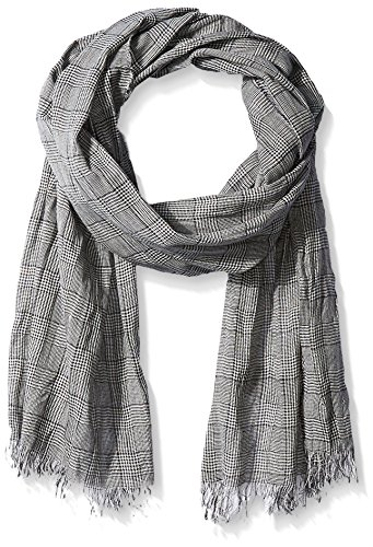 John Varvatos Star U.S.A Men's Glen Plaid Scarf, Indigo, One Size by John Varvatos Star USA