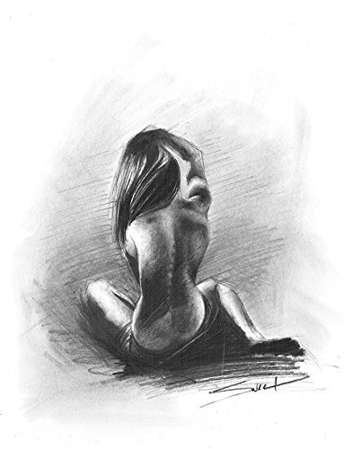 Charcoal Figure Drawing, Nude Art, Naked Woman Art, Erotic Art, Erotic, Nude Model by SignedSweet