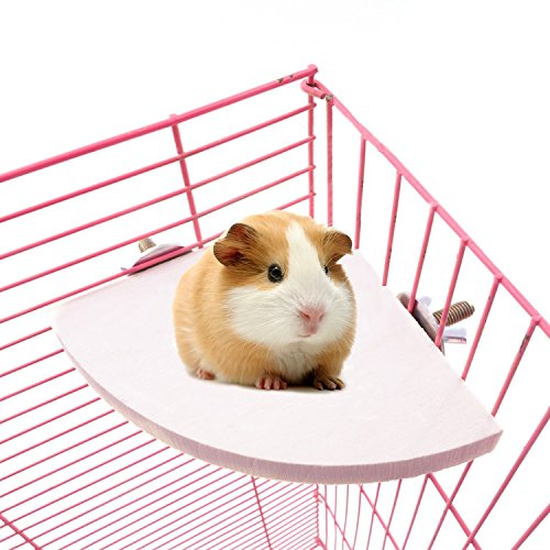 Borange Rat Cage Accessories Wood Hamster Platform Parakeet Perches Stand Toys for Small Pets Birds Cage Parrot Cockatiel Chinchilla Hamster Gerbil 7inch