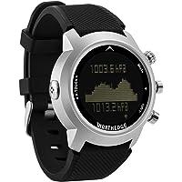 OOLIFENG Impermeable 100M Reloj de Buceo para Hombre, Podómetro Altímetro Barómetro Brújula y Termómetro