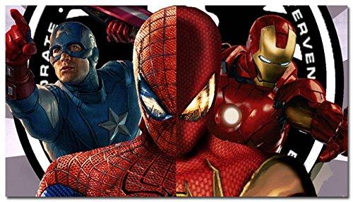 Fit You Captain America 3 - Civil War Movie Art Silk Poster Es Iron Man Spider Man Black Widow Hulk 50]()