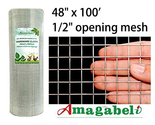 48 X100 1 2 Inch Openings Square Mesh Welded Wire 19 Gauge