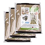 Tosnail 3 Pack Double Zippered Transparent Top Under Bed Storage Bags Two Handles - 39'' x 12.5'' x 5.5''