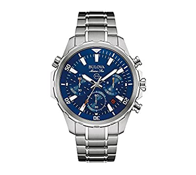 Bulova Men's 43mm Marine Star Stainless Steel Chronograph Watch by Bulova