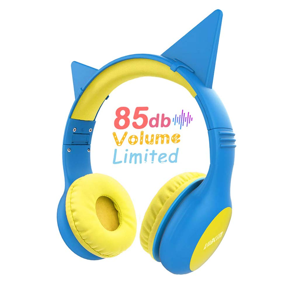headphones for kids Over Ear, Wired Headphones With Music Audio Share Port For Children,Foldable On Ear Headphones Volume Limited Protecting Hearing,For Iphone, All Android Smartphones, Pc (Blue)