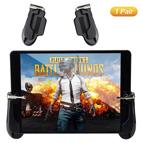 Mobile Game Controller for iPad, COCASES Sensitive Shoot Aim Tablet Gamepad Trigger Button for PUBG, Compatible 4.5-12.9 inch Tablet & Smartphone