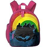 Rainbow Rafting Kid Cute School Backpack Bag Shoulder Daypack Handbag Bookbag