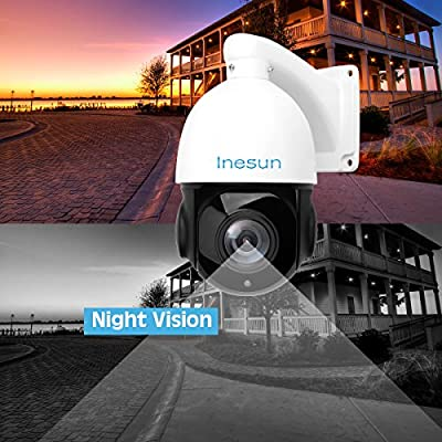 64e0fc31576 Inesun PTZ IP Security Camera 5 Megapixels Super HD 2592x1944 Pan Tilt 18X  Optical Zoom H. Loading Images... Back. Double-tap to zoom