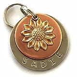 Personalized Pet ID Tag - Sadie -Sunflower