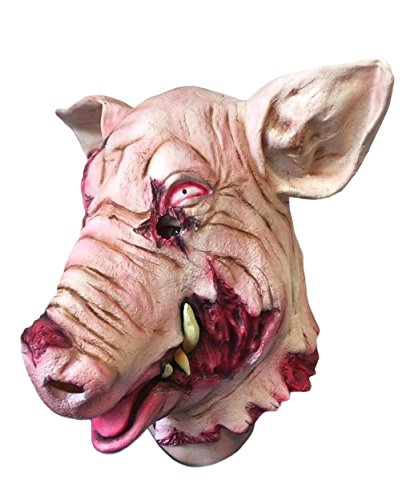 GORY Bloody Pig Mask , Horror , Saw, Animal Costumes , Halloween Masks , Scary (Halloween Costumes Saw Pig)