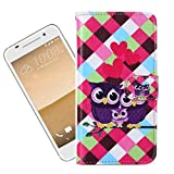 For HTC One A9 Case , TUTUWEN Cute Family Magnetic Wallet PU Leather Card Slot Stand Flip Protective Slim Skin Case Cover For HTC One A9 5.0