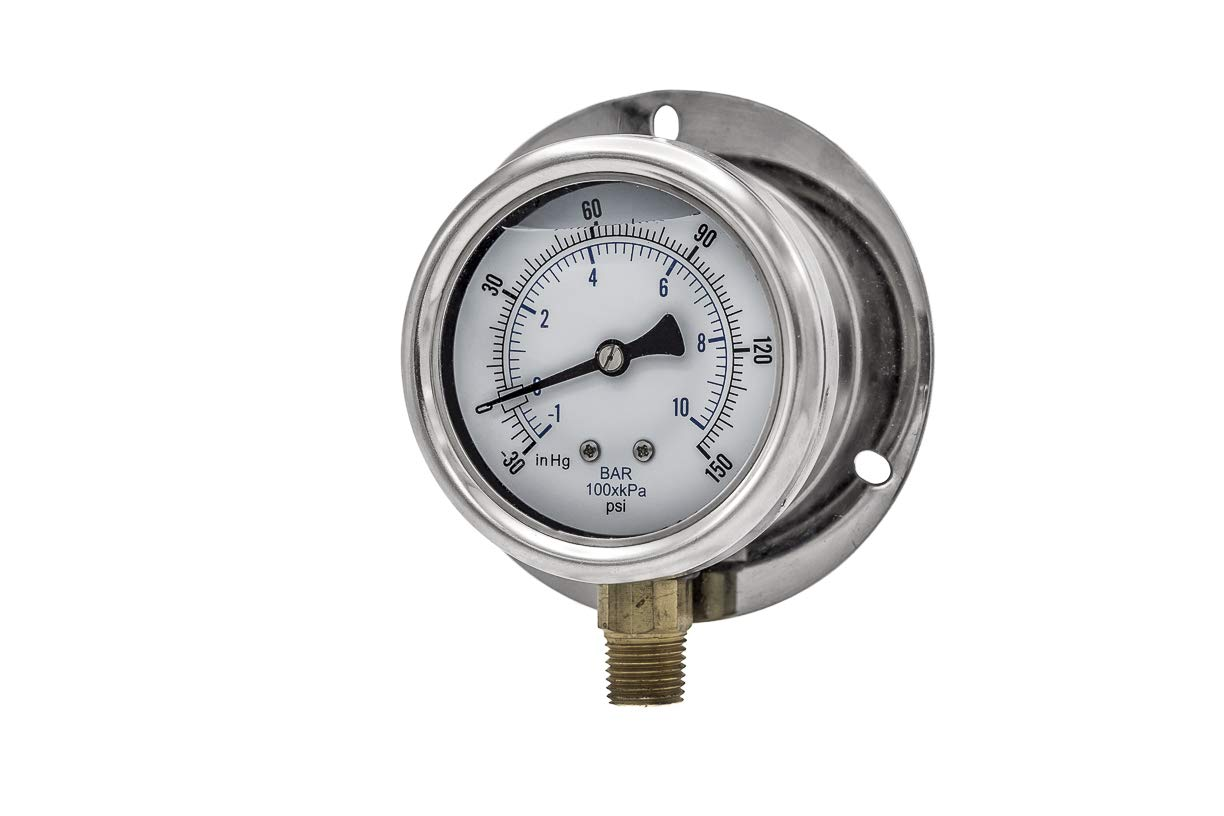PIC Gauges 215L-254CF 2.5 Dial 30//0//150 psi Range 2-1-2/% Accuracy Engineered Specialty Products Inc.
