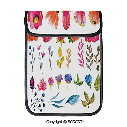 - SCOCICI Simple Protective Set of Flowers with Leaves and Branches Nature Collection Gardening Theme Art Pouch Bag Sleeve Case Cover for 12.9 inches Tablets