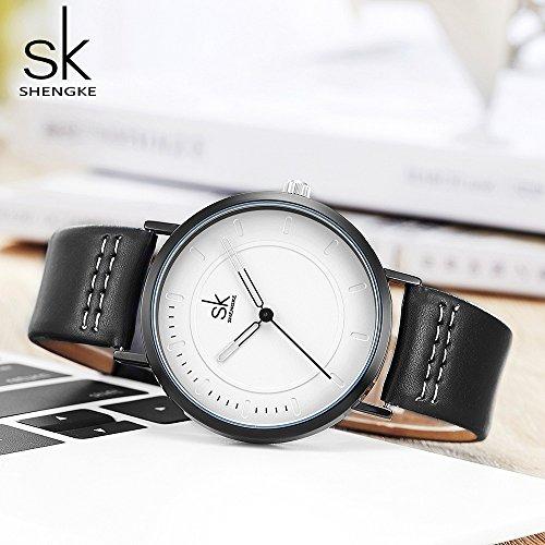SINOBI Dress Wrist Watch Set Casual Classic Stainless Steel Quartz Wrist Business Analog Watch for Couple by SINOBI (Image #3)