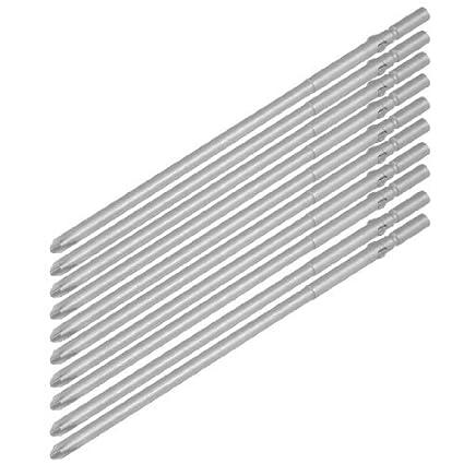 eDealMax 10 x 5 mm de metal redondo con mango de 4, 5 mm de punta ...