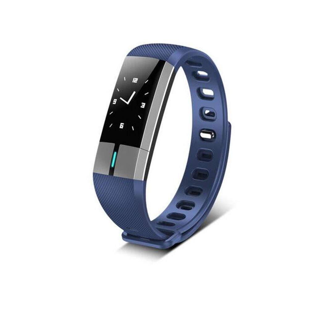 フィットネストラッカー、心拍数睡眠モニター活動トラッカー、カロリーカウンター、歩数計、IP67防水、チャイルドレディ、メンズスマートウォッチ (Color : Blue) B07TGBQMD3 Blue