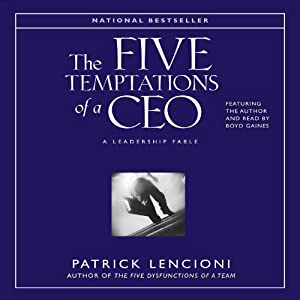 The Five Temptations of a CEO Hörbuch