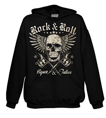 Rock liquori e tatuaggi 701751 cappuccio