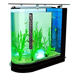Milocos 300W Submersible Aquarium Heater with Visible Temperature, Heaters for Fish Tanks Auto built-in Thermostat with Suction Cup Heating Rod