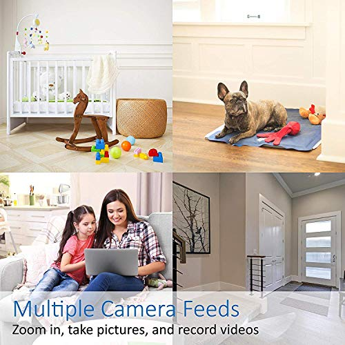 Momentum Cori Smart Home Camera, Indoor WiFi HD | Multiple Device Connection, for Security, Dog/Pet Monitoring, Business Surveillance, Camera with Audio, 2 Way Talk, Motion Detection | Black - 2 Pack