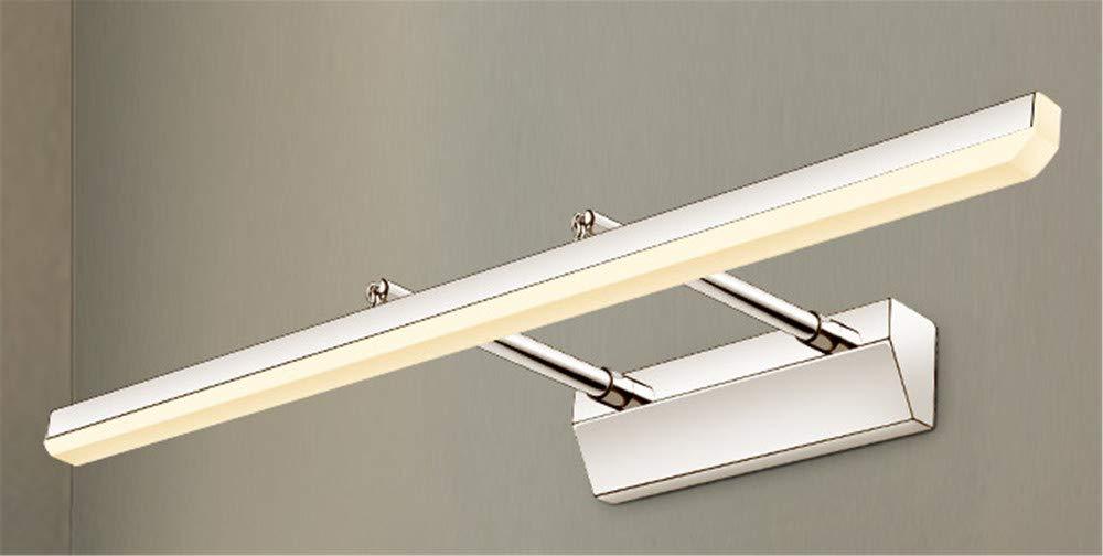Spiegel Frontlicht LED Badezimmer Badezimmerspiegel Kabinett Licht Badezimmer Wandleuchte Einfache moderne einziehbare Licht Weißes Licht